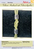 Velour-Armband mit Schmuckperlen