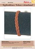 Geflochtenes Velour-Armband