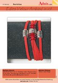 Edles Velour-Armband in rot