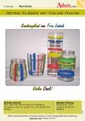 Retro-Gläser mit Color Dekor