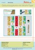 Geburtstagskarte mit Washi-tape