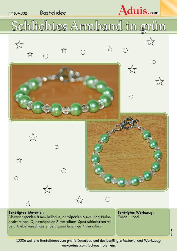 Schlichtes Armband in grün