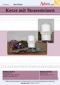 Kerze mit Strassteinen