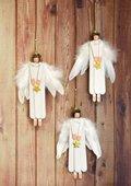 Engel aus Bastelhölzer