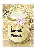 Marmeladenglas mit Bambussticker