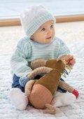 Baby - Streifenpulli, Mützchen & Söckchen