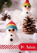 Winterliche Filz-Schneemännchen