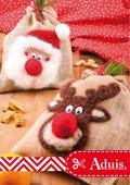 Jutesäckchen befilzt - Santa und Rudolf