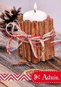 Zimtstangen Kerze - Deko Weihnachten