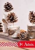 Deko Weihnachten - Zapfen Kerzen