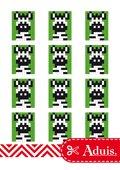 Pixel Vorlage Medaillon - Zebra(Bastelidee)