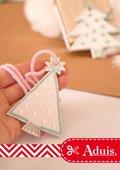 Christmas-Anhänger im Pastelllook