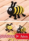 Biene basteln aus Chenilledraht o. Pfeiffenputzern
