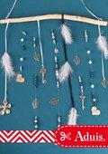 Sommerliches Windspiel mit Perlen