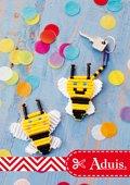 Schlüsselanhänger Biene aus Bügelperlen