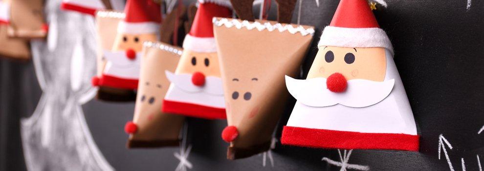Adventskalender - Weihnachtsmann und Rentier