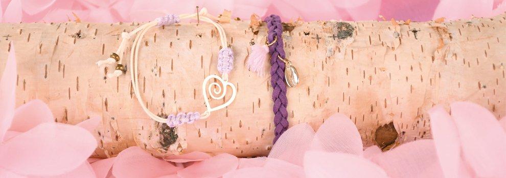 Armband flechten mit Veloursband