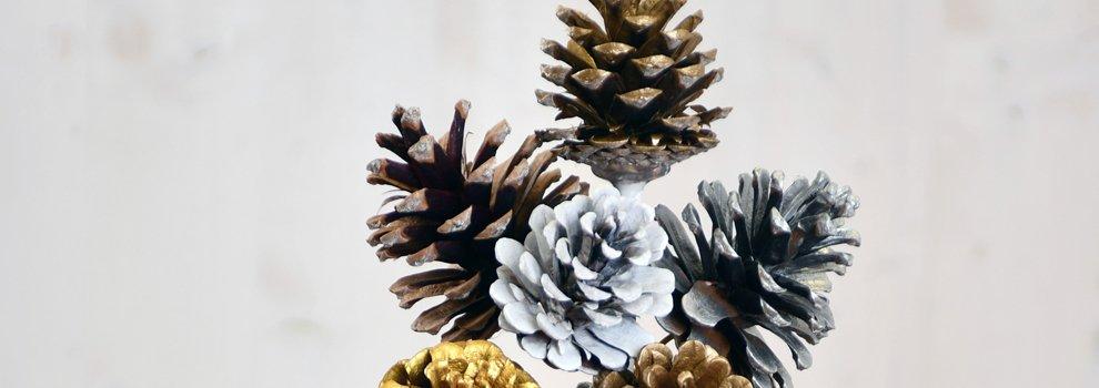 Deko Weihnachten - Zapfen Strauß