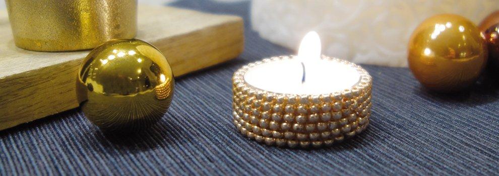 Perlen fädeln - Teelichthalter