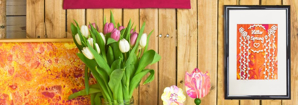 Pouring: Frühlingsgefühle im Rahmen