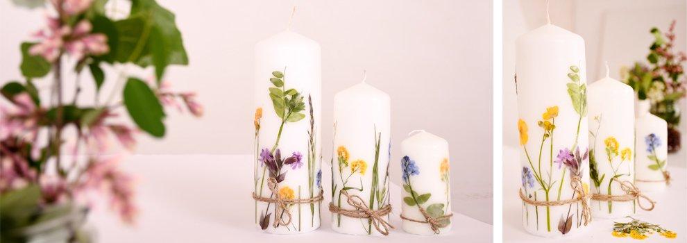 Sommerliche Blütenkerzen