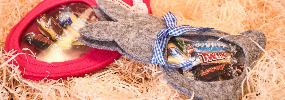 Süßes Ostergeschenk aus Filz