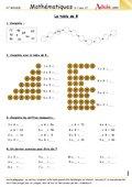 La table de multiplication de 8
