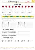 La table de multiplication de 6