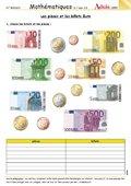 Les pièces en euro et billets en euro