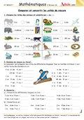Comparer et convertir les unités de mesures.