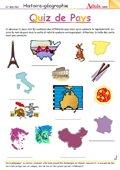 Quiz des Pays