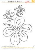 Modèle de dessin - Fleurs