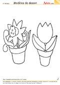 Modèle de dessin - Plante en pot