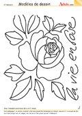 Modèle de dessin - La vie en Rose