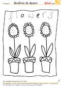 Modèle de dessin - Tournesols