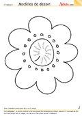 Modèle de dessin - Petite Fleur