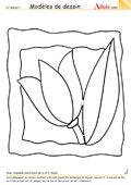 Modèle de dessin - Tableau de fleur