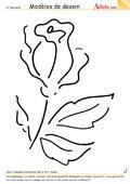 Modèle de dessin - Rose