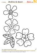 Modèle de dessin - Trio de fleurs