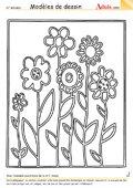 Modèle de dessin - Champ fleuri
