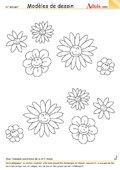 Modèle de dessin - Fleurs souriantes