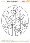 Modèle de dessin - Fleur vitrail