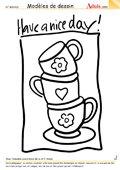 Modèle de dessin - Bonne journée