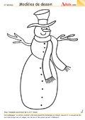 Modèle de dessin - Bonhomme de neige