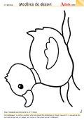 Modèle de dessin - Canard