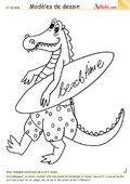 Modèle de dessin - Crocodile