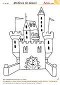 Modèle de dessin - Château