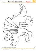 Modèle de dessin - Dinosaure