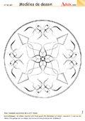 Modèle de dessin - Ornement Mandala