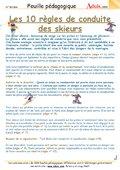 Les 10 règles de bonne conduite du skieur